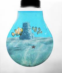 Lightbulb Aquarium by Ambeexx
