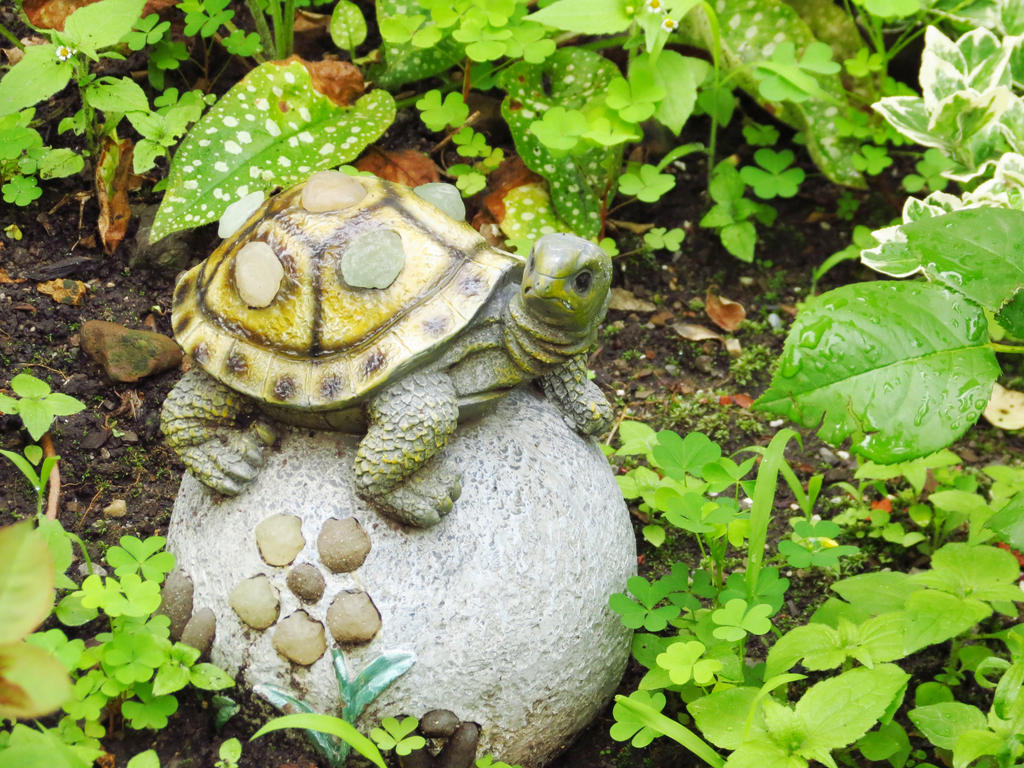 Garden Turtle Statue By Kitteh Pawz ...