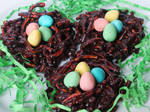 Chocolate Chow Mein Noodle Easter Nests
