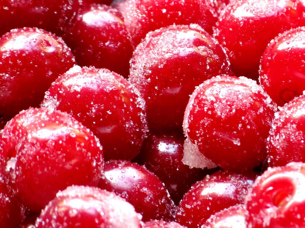Sugar Coated Sour Cherries by Kitteh-Pawz