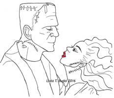 Frankenstein and His Bride