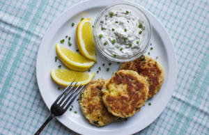 Potato and Salmon Cakes by Kitteh-Pawz