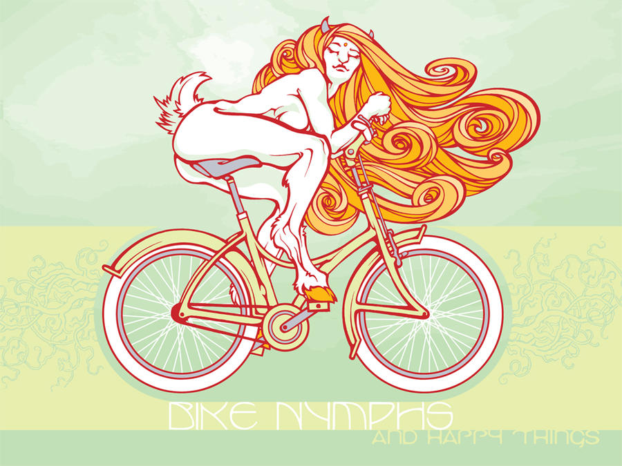 Bike Nymph - happy things by pseudo-manitou on DeviantArt