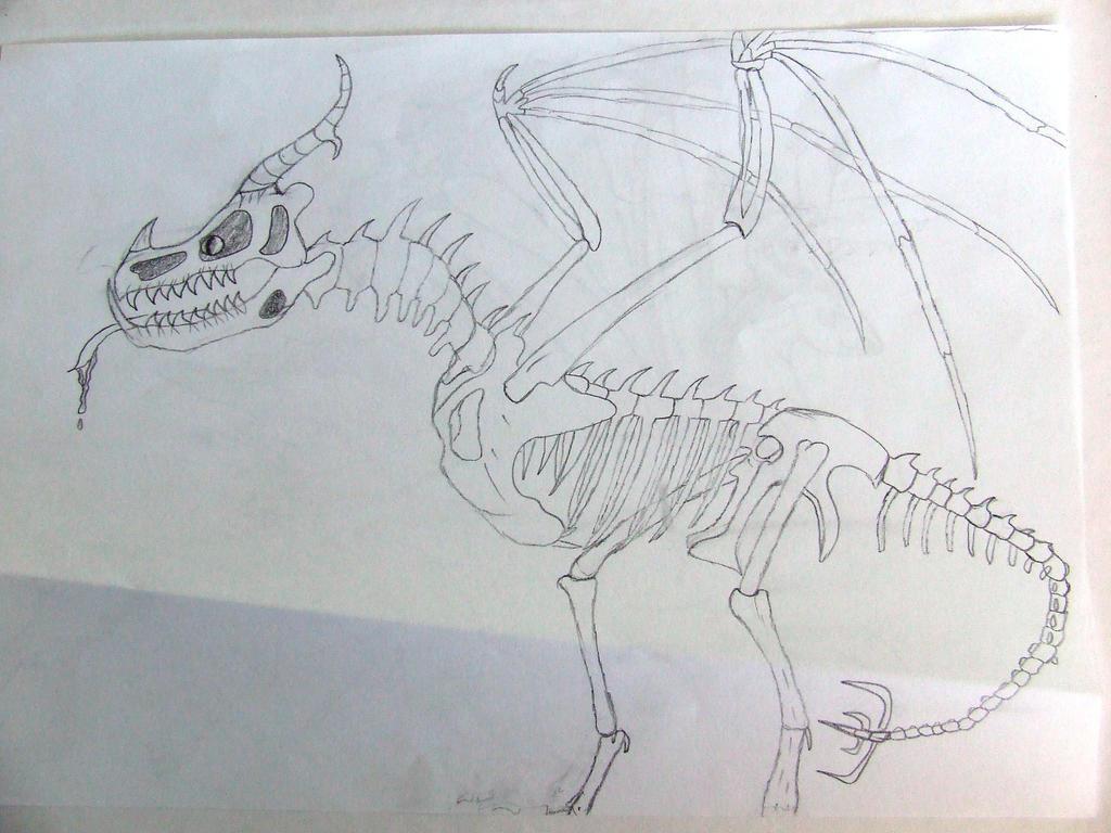 Skeleton Dragon by Skarlette8000