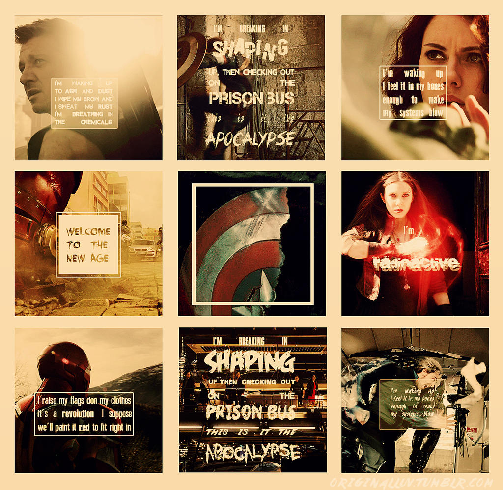 Warriors Imagine Dragons Avengers: Radioactive Text Collection By Super-Fan-Wallpapers On
