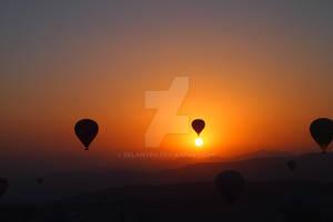 Hotair Balloon ride @ #Cappadocia, #Turkey