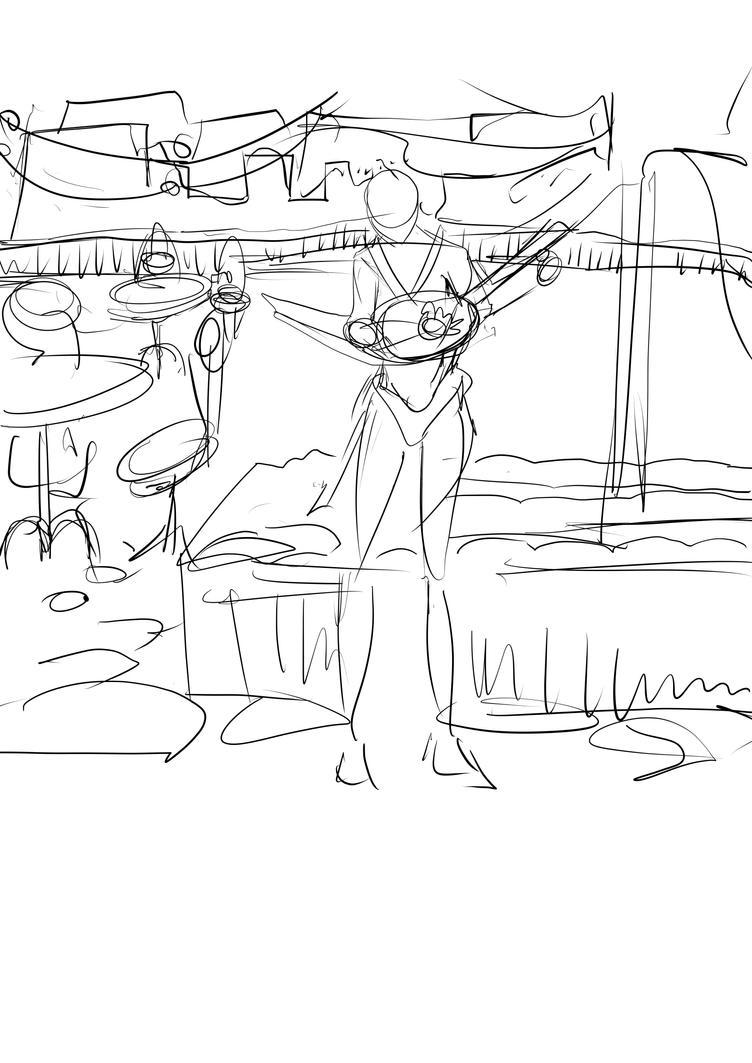 Manonguitar request clchriskl - initial sketch by Clchriskl