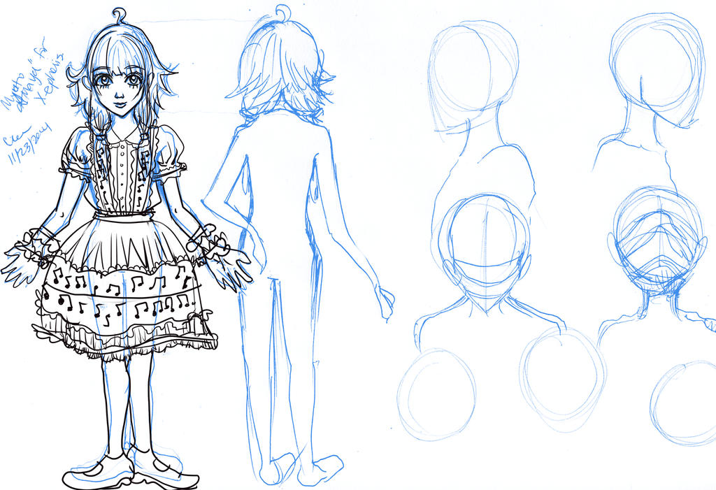 OC Vocaloid for Xepheris Reference Sheet - wip by Clchriskl