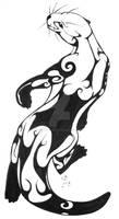 Tribal Otter Tattoo