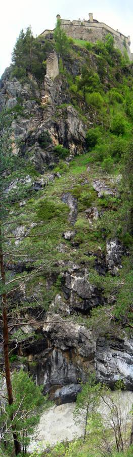 Alpine Castle Vertical Panorama