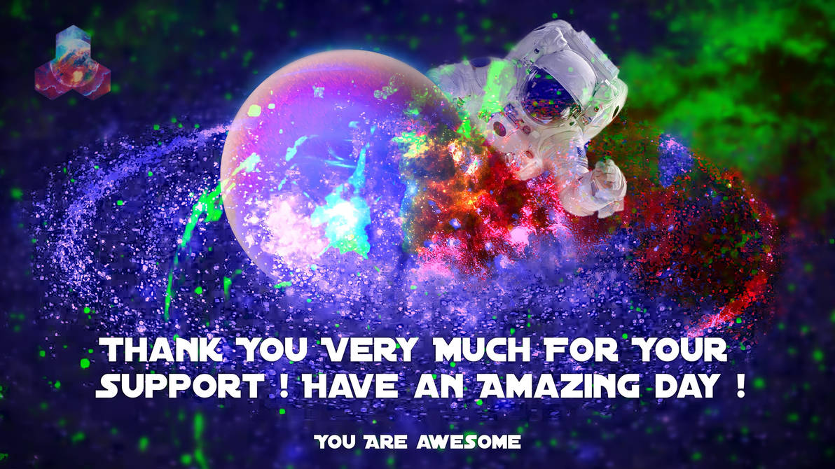 Excited Astronaut (Support Baner)