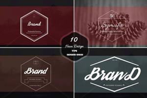 10 Hexa Insignia Logos by symufa