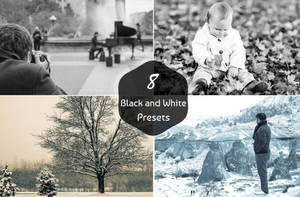 8 Free Black and White Presets by symufa