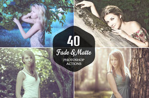 40 Free Fade and Matte Photoshop Actions by symufa