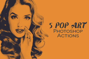 5 Free Pop Art Photoshop Actions