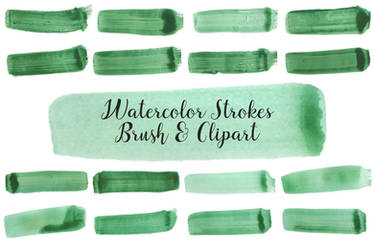 Watercolor Strokes PNG and Brush Vol. 2 by symufa
