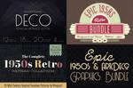 Epic 1950s And ArtDeco Graphics Bundle