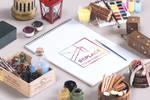 Free Isometric Art Equipments Mockup Demo