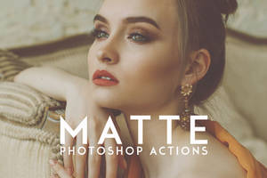 Matte Photoshop Actions by symufa