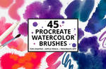 45 Procreate Watercolor Brushes