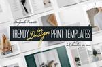 Trendy InDesign Print Templates