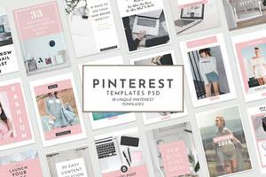 18 Free Unique Pinterest Graphic Templates