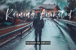 Animated Raining Photoshop PSD Template Actions