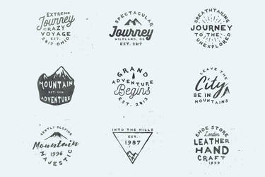 20 Free Vintage Logo Templates by symufa