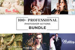 100+ Free Pro Photoshop Actions Bundle by symufa