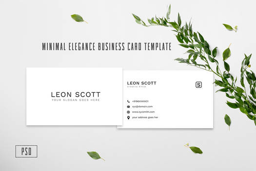 Free Minimal Elegance Business Card Template by symufa