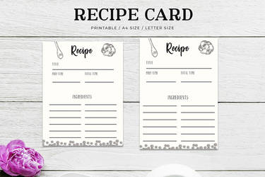 Free Cooking Recipe Card Template RC3 by symufa
