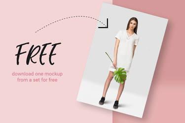 Free Tropic Womens Dress Mockup by symufa