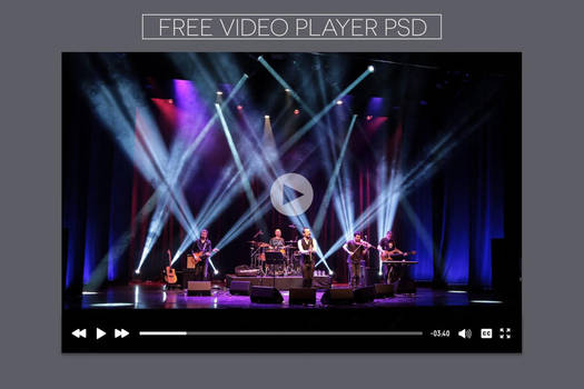 Free Youtube Video Player PSD Template Mockups