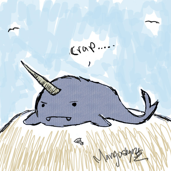 Beached Narwhal By Mangostyn