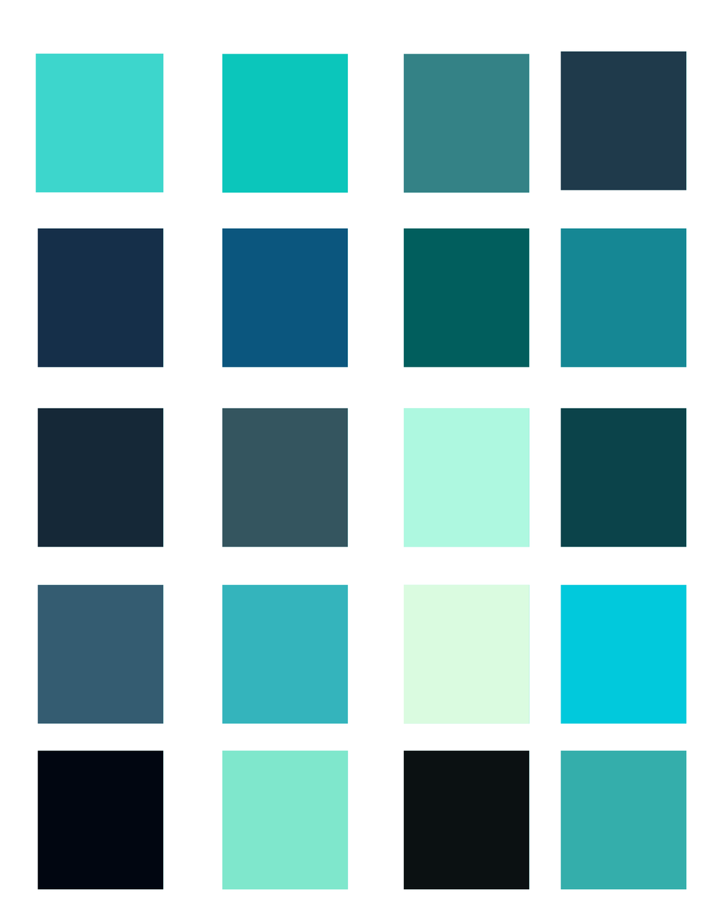 Light blue color palette by oceanisuna on deviantart for Light green blue color