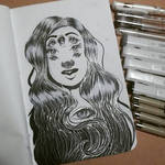 Girl with many eyes