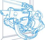 WH40K - Kasrkin J Sketch 2