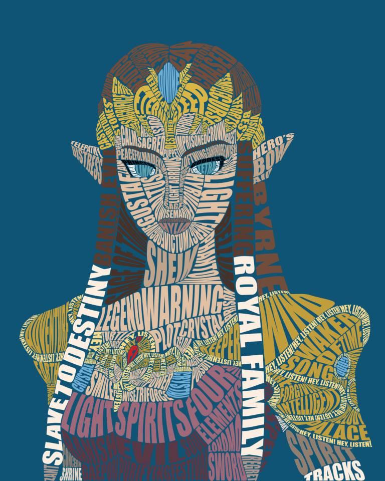 Zelda Typography by Sophistilax