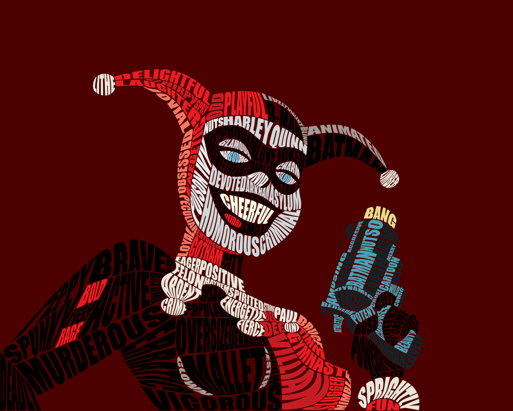 Harley Quinn Typography by Sophistilax