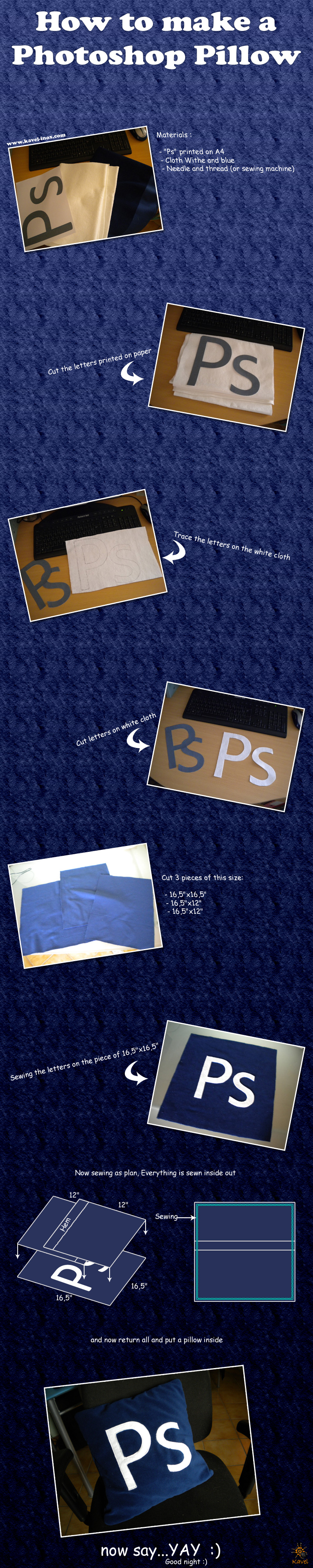 How to make a Photoshop Pillow