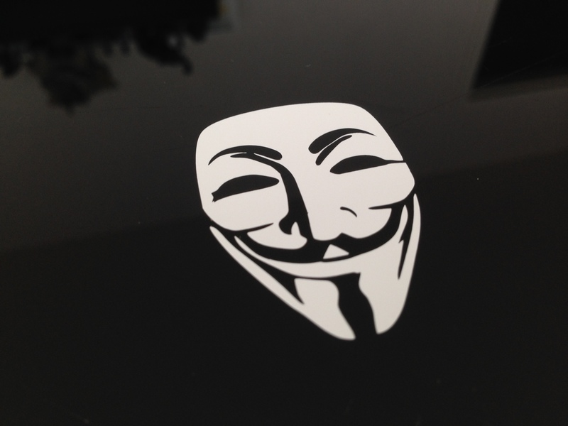 Sticker Anonymous Vendetta Guy Fawkes by Kavel-WB