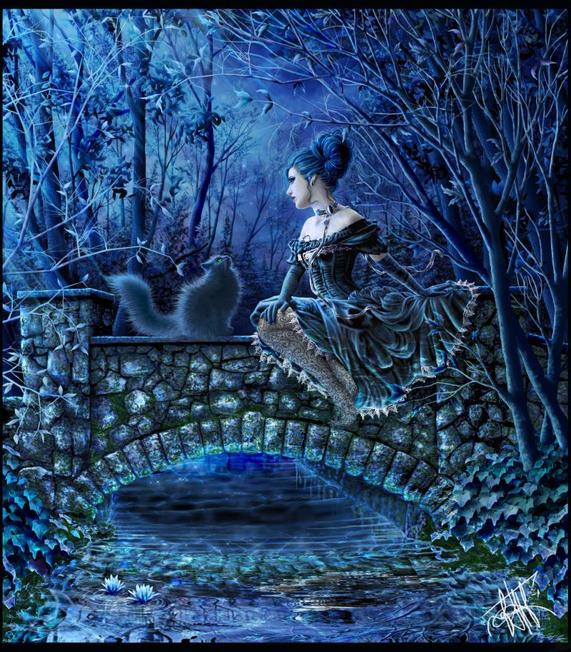 Cerulean Moonlight by vampyre1