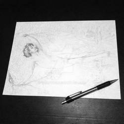 Bouguereau sketch experiment