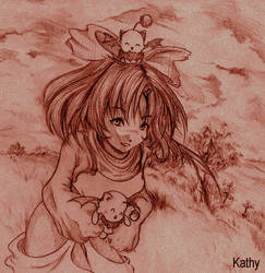 Eiko from FF9 sketch by kathy100