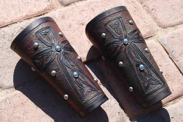 Finished Bracers by Kiltedninja
