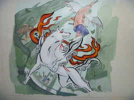Okami Mural (oldie) by VozGris
