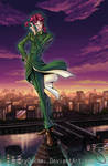 Kakyoin and the Clock Tower by 7amze