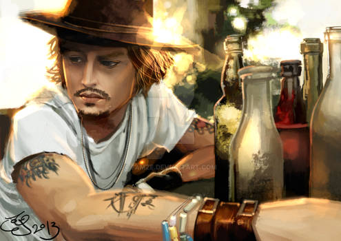Johnny Depp Portrait by 7amze