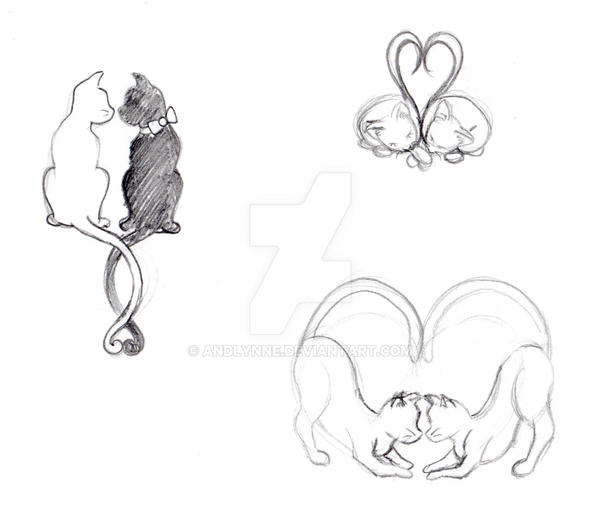 Cat Tattoos by Andlynne