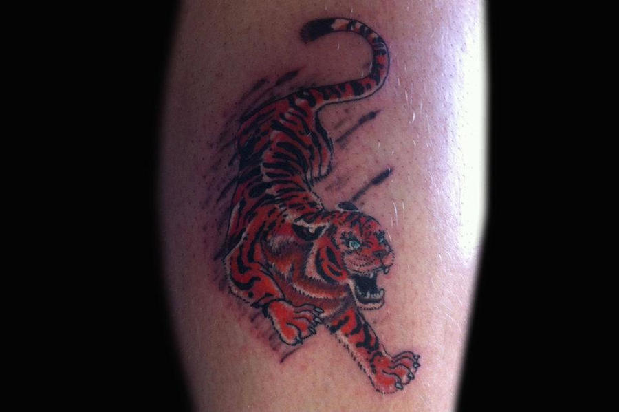 Small tiger tattoo by tr8 on deviantart for Small tiger tattoos